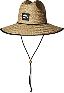 BROOKLYN ATHLETICS Men's Straw Sun Lifeguard Beach Hat Raffia Wide Brim, Natural, One Size