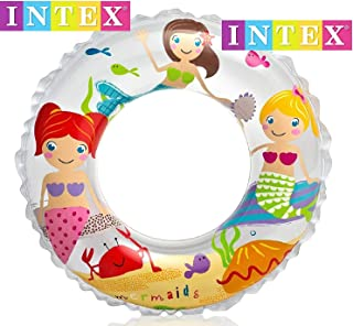 """Intex 24"""" Inflatable Transparent Ring Swim Tube 59242 - Color May Very - 2 Pack"""