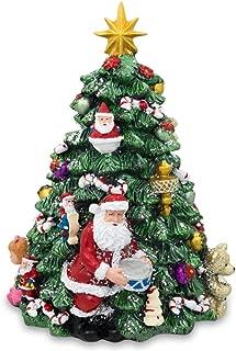 BestPysanky Musical Rotating Tabletop Christmas Tree with Santa