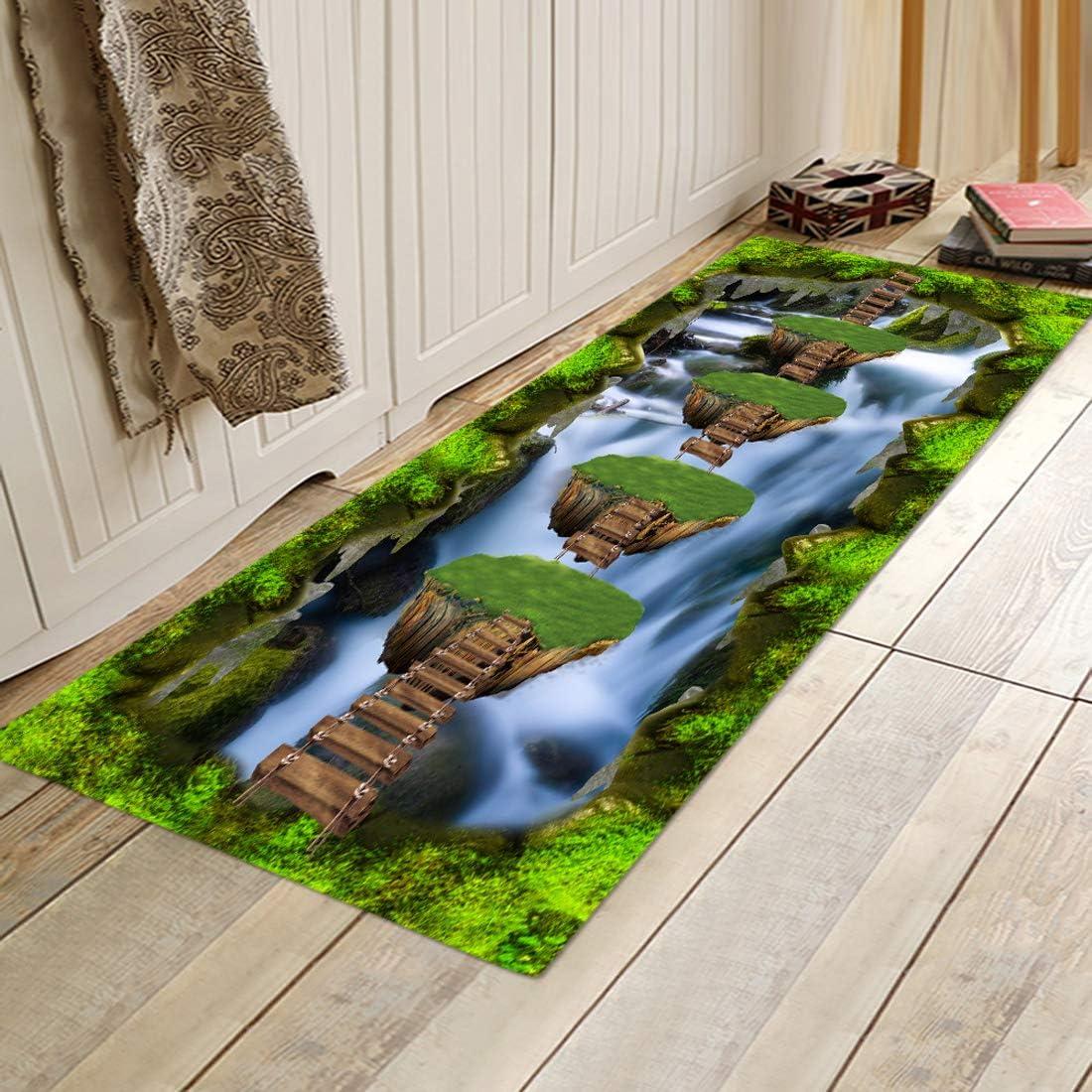 3D Optical Illusion Cheap bargain Rug,Non Slip Printing Carpet Max 86% OFF Mats Scenery