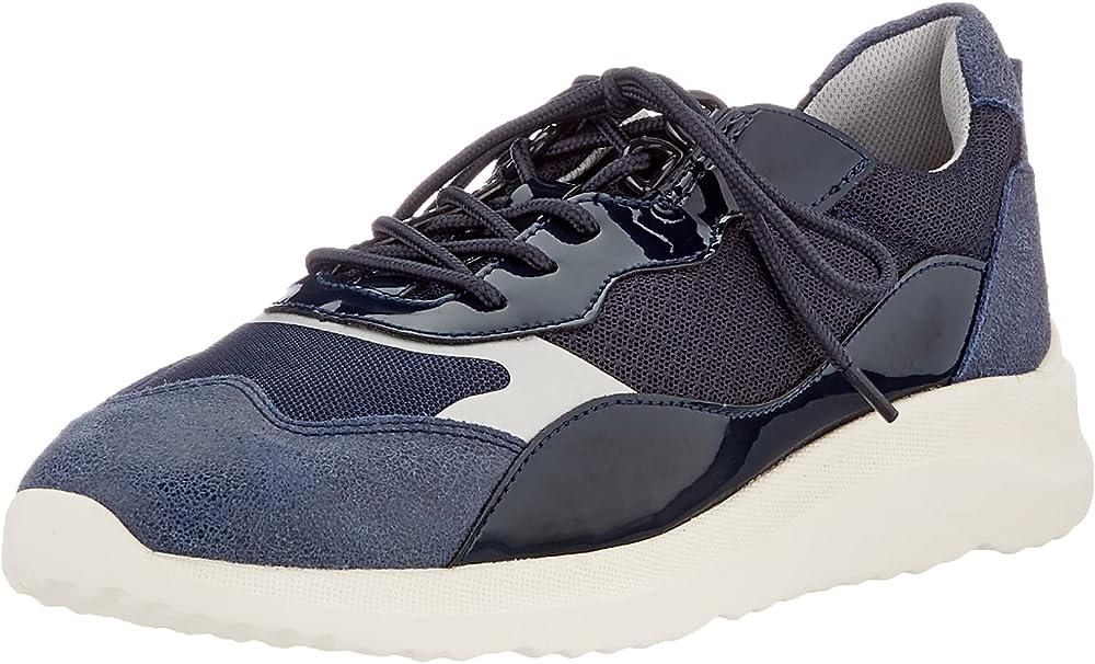 Geox d diodiana g scarpe da ginnastica sneakers da donna in pelle sintetica e tessuto D15NXG08514A