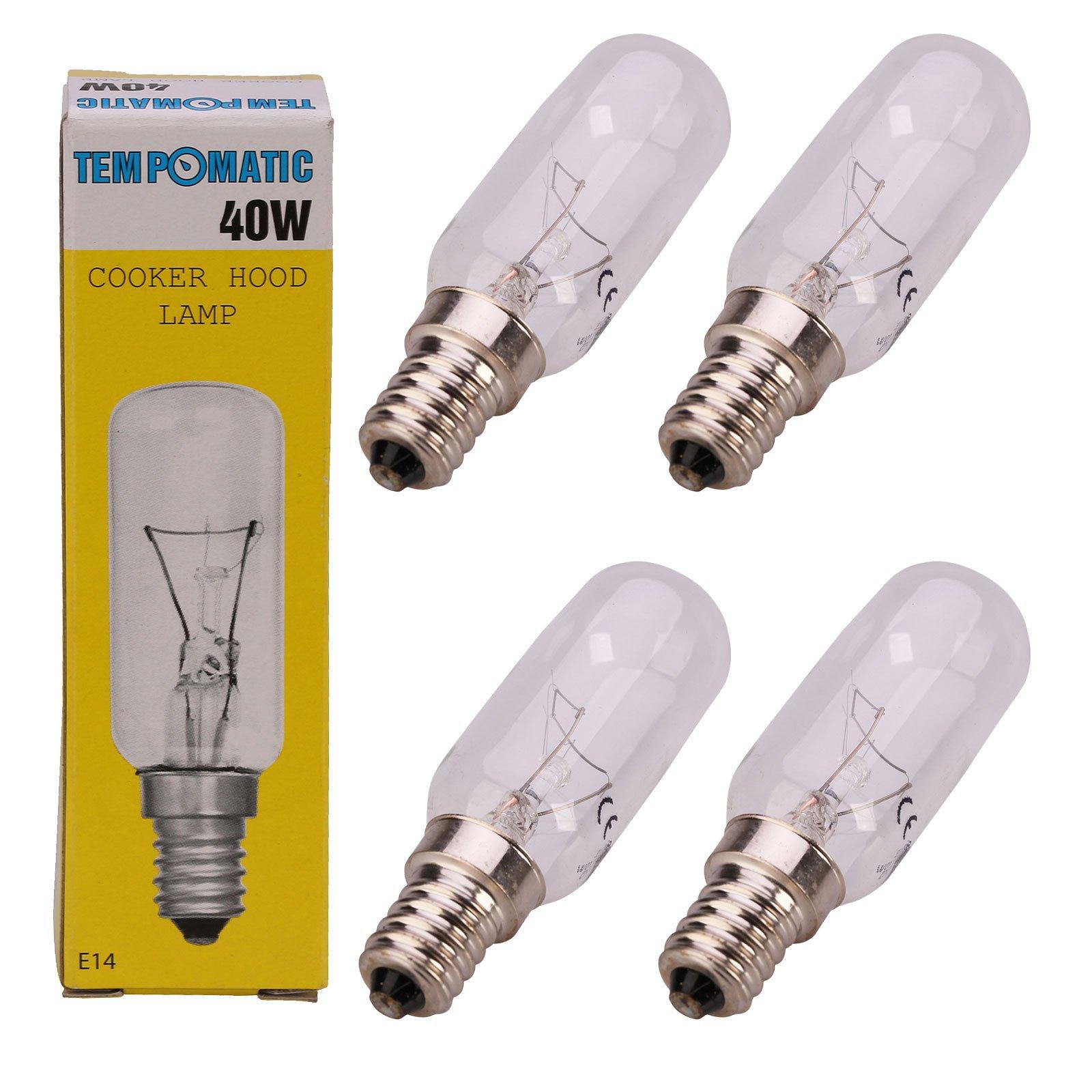 Qualtex E14 40W SES - Bombilla para campana extractora 4 unidades transparente: Amazon.es: Grandes electrodomésticos
