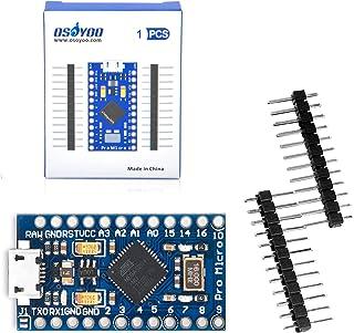 OSOYOO Pro Micro ATmega32U4 5V/16MHz Module Board with 2 Row pin Header for arduino Leonardo Replace ATmega328 Pro Mini
