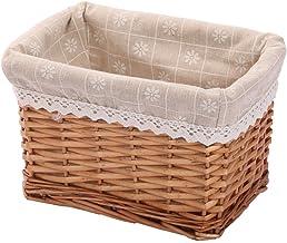Rectangular Wicker Storage basket&bins container, Organizer Box, Kingwillow Art & Craft (Small)