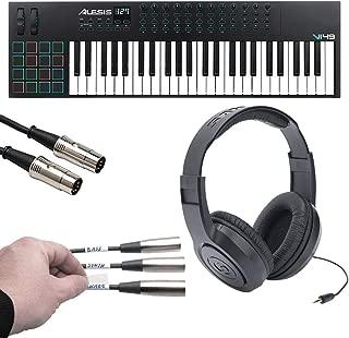 Alesis VI49   Advanced 49-Key USB MIDI Keyboard & Drum Pad Controller (16 Pads / 12 Knobs / 36 Buttons) + Label Kit + MIDI Cable + Headphones - Top Value Kit!
