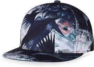 SUPERCB Unisex's Cap Snapback Adjustable Hat Plain Baseball 3D Print Hip Hop Animal