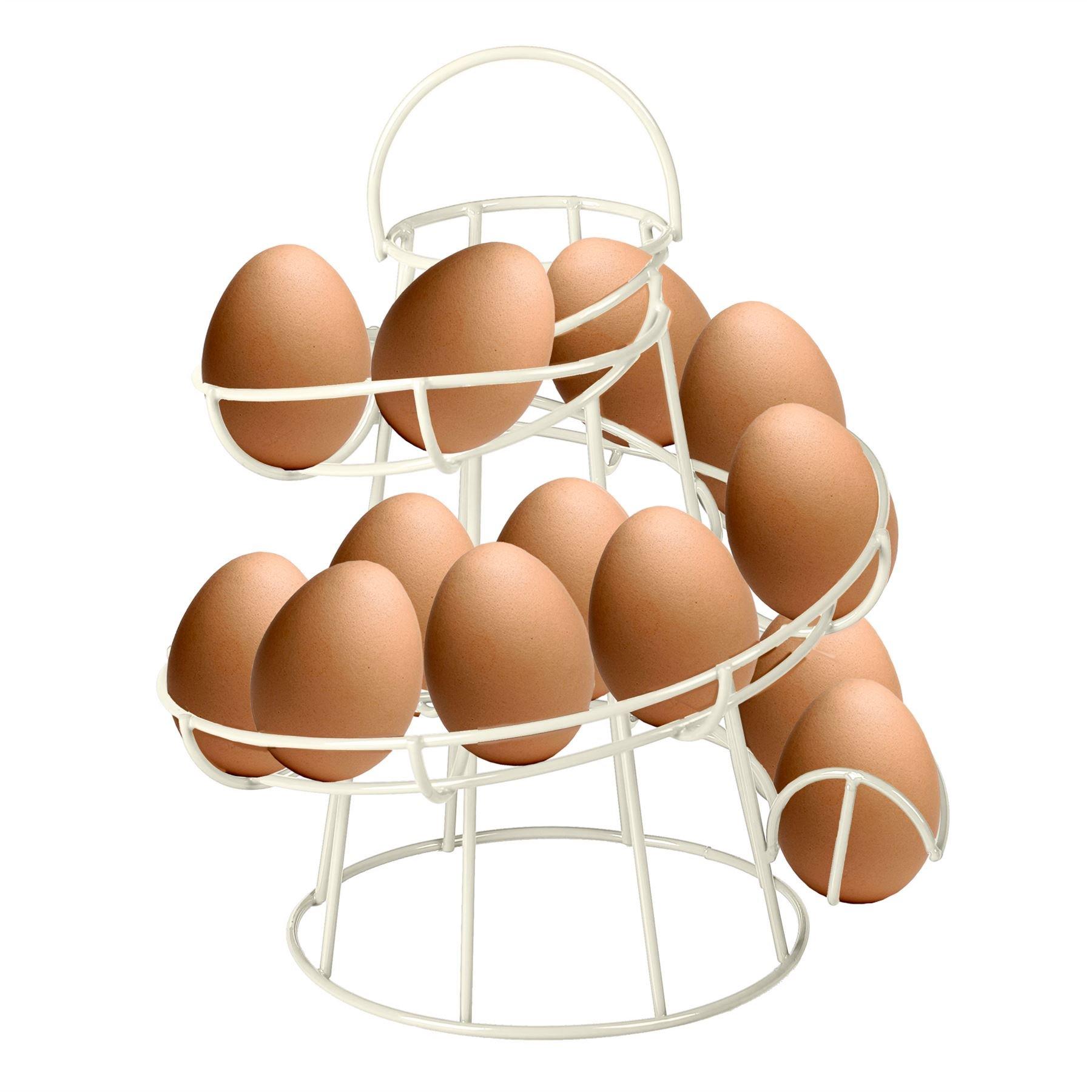 AllRight Chrome Egg Storage Helter Skelter Egg Holder Spiral Egg Rack