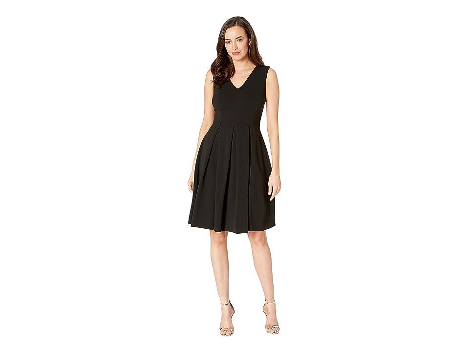 Calvin Klein A-Line Dress with Illusion Back CD8C19XC (Black) Women