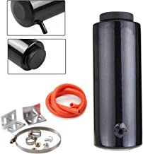 800ml Radiator Coolant Tank Universal Coolant Expansion Tank Cooling Catch Bottle Overflow Reservoir Aluminum Billet Black