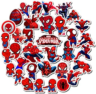 Spider-Man Stickers Laptop Stickers Waterproof Skateboard Snowboard Car Bicycle Luggage Decal 35pcs Pack (Spider-Man)