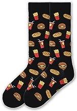 K. Bell Socks Men's Food and Drink Casual Novelty Crew Socks