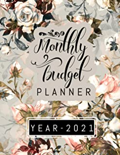 Monthly Budget Planner Year-2021: Monthly Saving Goal Tracker, Expense Finance Budget By A Year Monthly And Daily Basis, M...
