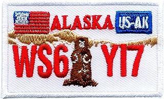 Alaska AK Juneau Autokennzeichen USA Bundesstaaten Patch Aufnäher Aufbügler 0616