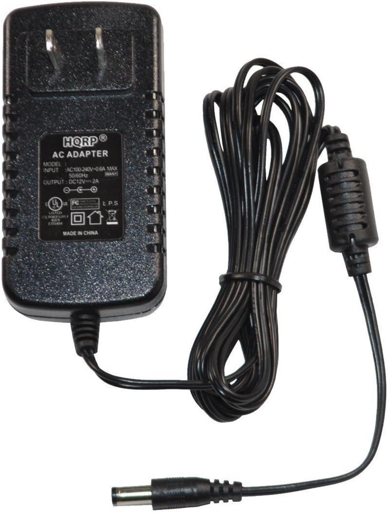 HQRP AC Adapter Compatible with Horizon Fitness 088261 2.3E 3.2E 3.3E 4.2E 4.3E CSE3.5 CSE3.6 CSE4.5 CSE4.6 E901 Elliptical Power Supply Cord [UL Listed] + Euro Plug Adapter