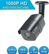 1080P CCTV Bullet Security Camera, EWETON 1920TVL 2.0MP HD 4-in-1 AHD/TVI/CVI/CVBS Weatherproof Outdoor Surveillance Camera, 3.6mm Lens 36 LED 115ft IR Night Vision, Aluminum Alloy Housing