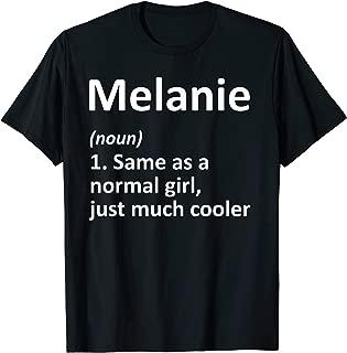 MELANIE Definition Personalized Funny Birthday Gift Idea T-Shirt
