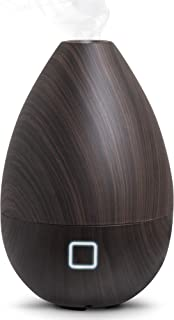 SHARPER IMAGE Essential Oil Aromatherapy Mist Diffuser, 6 Ounce Capacity, Faux Dark Wood