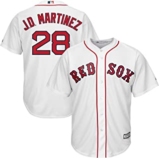 J.D. Martinez Boston Red Sox White Youth Cool Base Home Replica Jersey