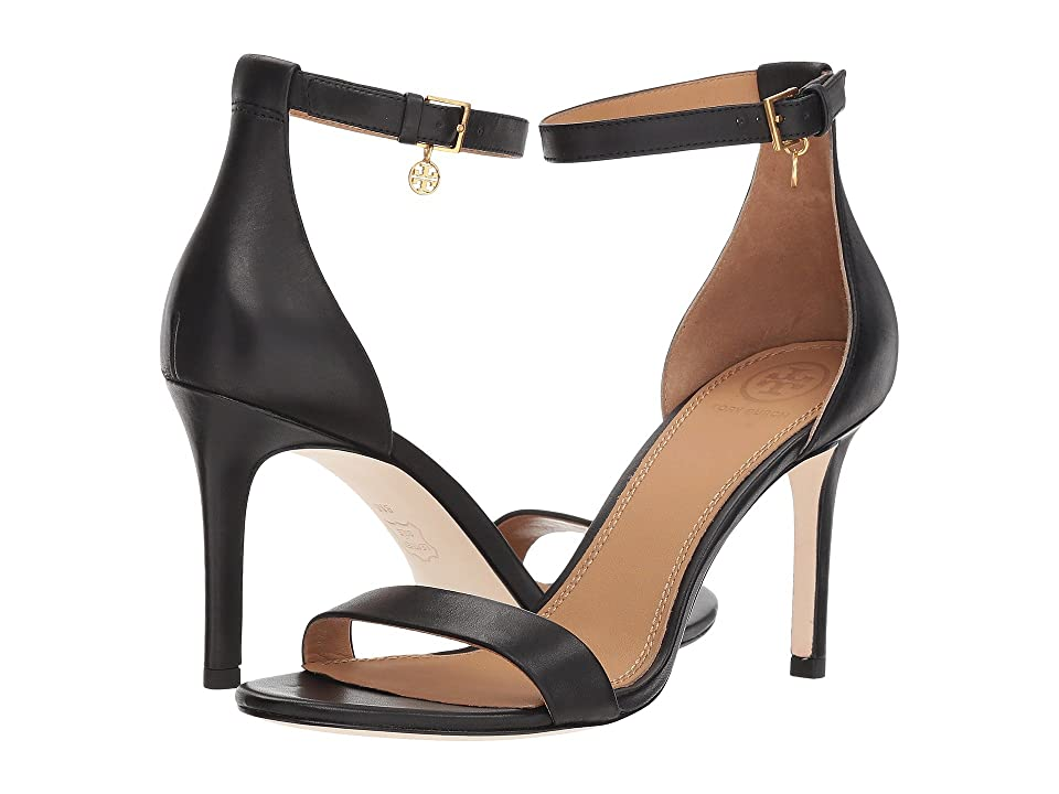 Tory Burch Ellie 85mm Ankle-Strap Sandal (Perfect Black 1) Women