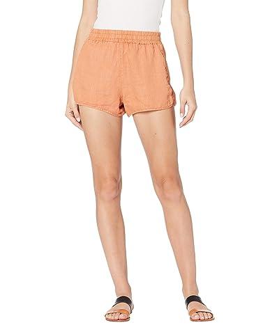 Blank NYC Linen Elastic Waist Pull-On Shorts Women