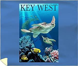 Lantern Press Key West, Florida - Sea Turtles 33338 (88x104 King Microfiber Duvet Cover)