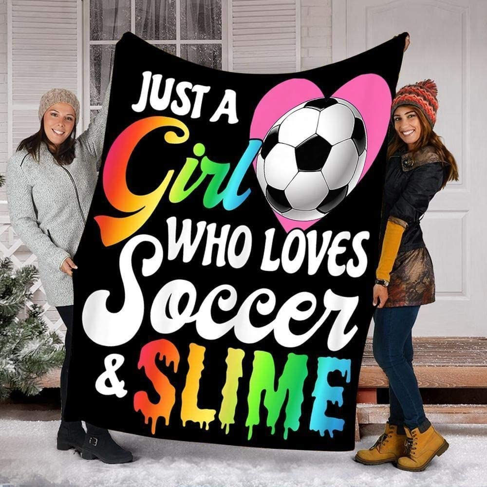 Just Ultra-Cheap Deals A Girl Who Loves Soccer Inc 60x80 Blanket and Slime Fleece Special sale item