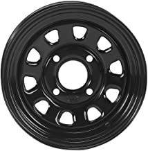 ITP Delta Steel Wheel - 12x7 - 2+5 Offset - 4/110 - Black , Bolt Pattern: 4/110, Rim Offset: 2+5, Wheel Rim Size: 12x7, Color: Black, Position: Rear 1225544014