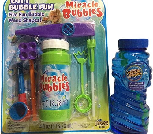 Bubble Fun 6-n-1 plus 8 Ounce Miracle Bubble Solution (Pack of 2)
