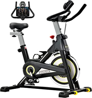 Exercise Bike, SOVNIA Stationary Bikes, Fitness Bike with iPad Holder, LCD Monitor and Comfortable Seat Cushion, Whisper Q...