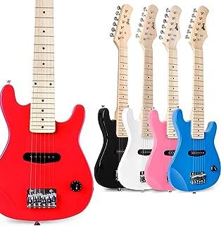 dark wood electric guitar