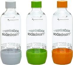 SodaStream Pet-flessen 2+1 action-set, 3x 1 l PET-flessen van onbreekbaar kristalhelder PET in de kleuren oranje, groen en...