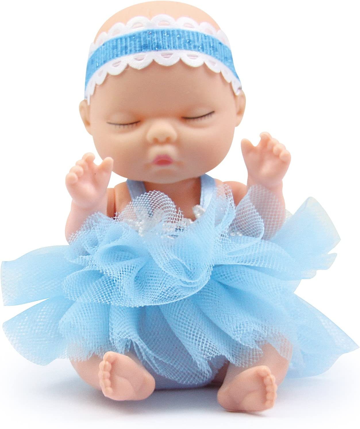 Brigamo Doll Surprise Cute Mini Baby Doll with Fluffy Fur Blanket in Decorative Ball
