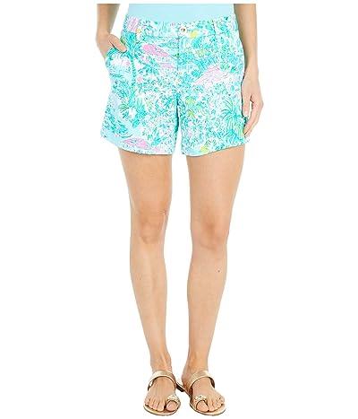 Lilly Pulitzer Callahan Knit Shorts (Gustavia Green Sunshine City) Women