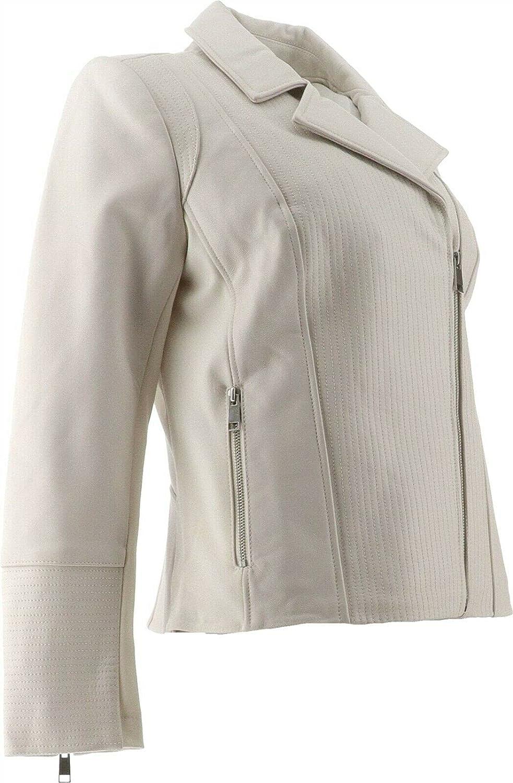 GIULIANA G Genuine Leather Moto Jacket 669-222