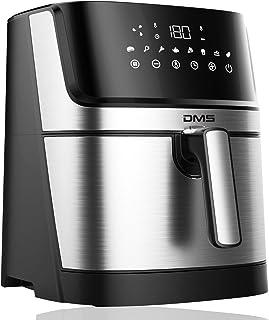 DMS XXL 6 Liter Heißluftfritteuse   Backofen   Heißluftgrill   Cooker   fettfrei und ohne Öl   inklusive 8 Programmen und digitalem Touch Display   1800 Watt