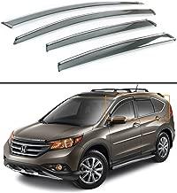 Fits for 2012-2016 Honda CRV CR-V Clip-on Type Smoke Tinted Window Visor W/Chrome Trim
