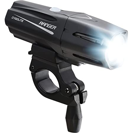 Cygolite Ranger – 1,400 Lumen Bike Light – 5 Night & 3 Daytime Modes – Compact & Durable – IP67 Waterproof – Secured Hard Mount – USB Rechargeable Headlight – for Road, Mountain, Commuter Bicycles