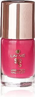 Lakmé 9 to 5 Long Wear Nail Color, Pink Blast, 9ml