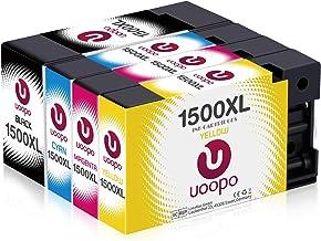 Uoopo Cartuchos de tinta de repuesto para Canon PGI-1500XL Canon Maxify MB2350, MB2050, MB2300, MB2000, MB2150, MB2755, MB2155 y MB2750 Pack de 4 Negro, cian, magenta, amarillo