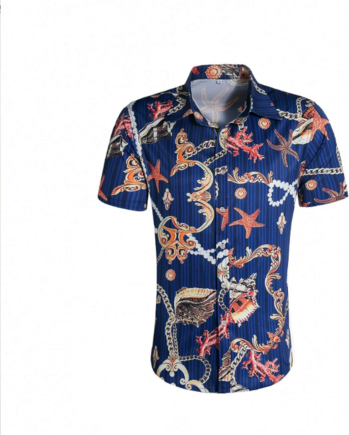 Corumly Men's Bombing Outlet ☆ Free Shipping new work Short-Sleeved Shirts New Summer Trend Personality
