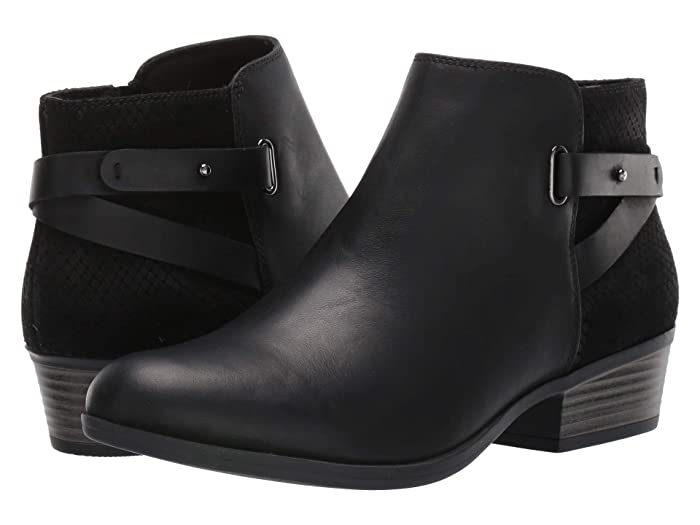 Clarks  Addiy Gladys (Black Leather) Womens  Boots
