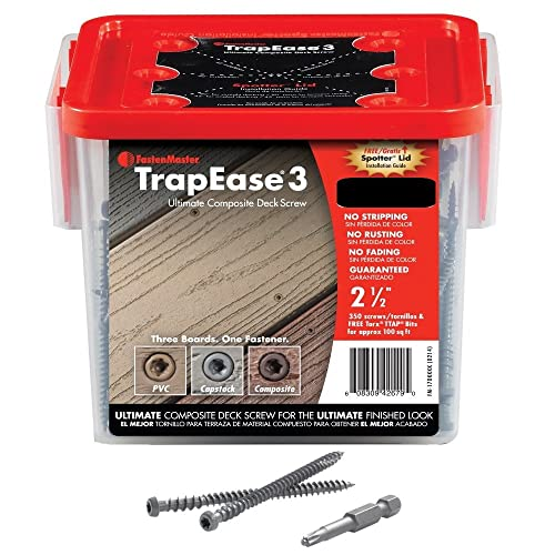 "Fastenmaster Fmtr3-212 2-1/2"" Trapease 3 Composite Deck Screw Trex-Tiki Torch - 100 sq.ft"