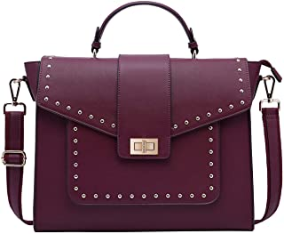 17 Inch Briefcase for Women, Fashionable Laptop Messenger Bag with Computer Bags for College Business Women Work School Bu...