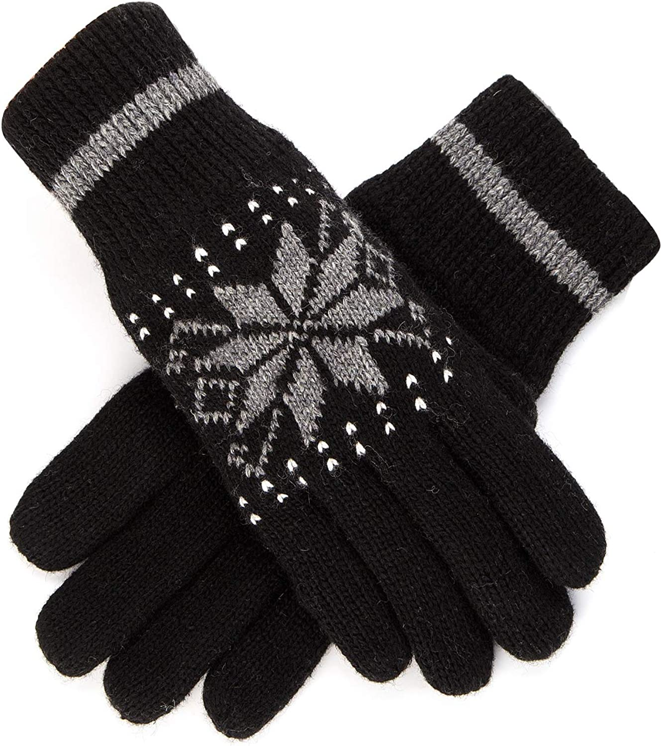 Women's Winter Knitted Gloves Thick Wool Warm Cold Weather Cable Knit Gloves