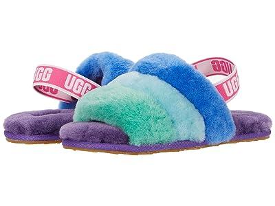 UGG Kids Fluff Yeah Slide (Toddler/Little Kid) (Purple Rainbow) Girls Shoes