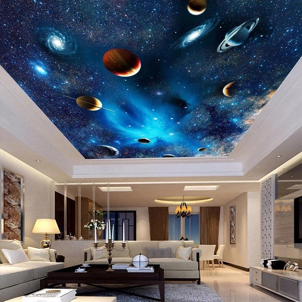Personalized Home Textile Wallpaper 3D Outer Plan Universe Cheap Max 90% OFF mail order specialty store Space
