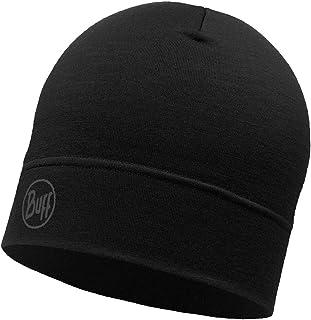 Buff Merino Wool Unisex Headwear, Black (Single Layerblack), Adult/One Size
