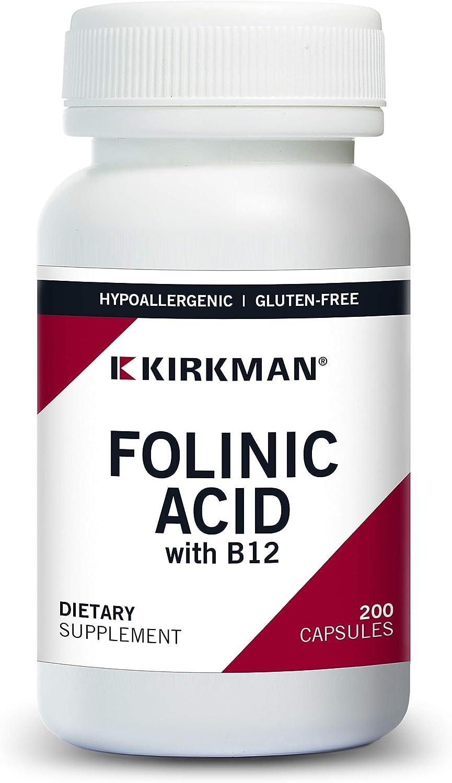 Genuine Free Shipping Folinic Acid w B-12 200 Capsules Hypoallergenic 40% OFF Cheap Sale
