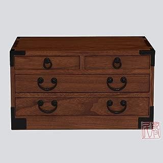EASTERN CLASSICS Japanese tansu Style Jewelry Box KB27T, 4 Drawers Box, Solid kiri Wood