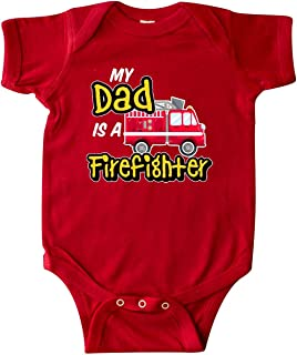 My Dad is a Firefighter with Fire Truck Infant Creeper